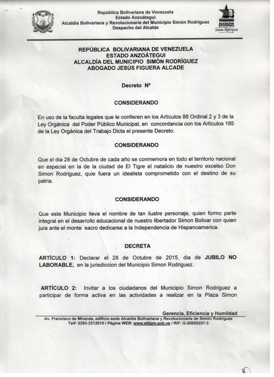 Fuente: Concejo Municipal El Tigre