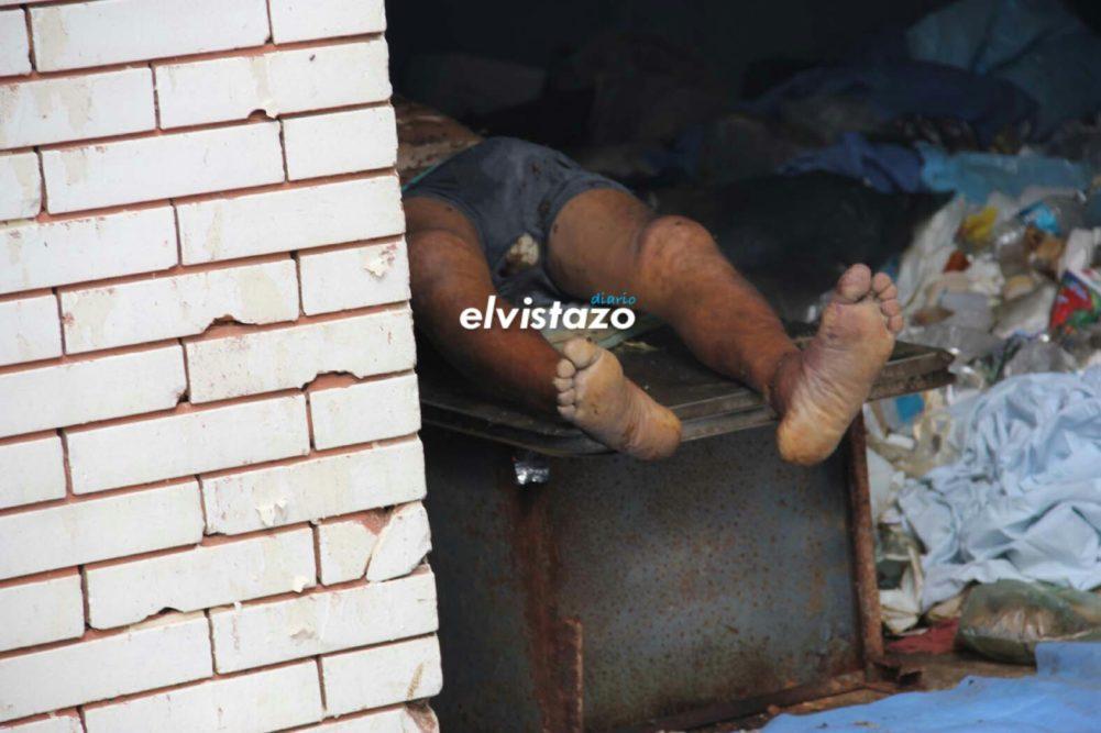 Cadáver a la vista de todos en El Tigre