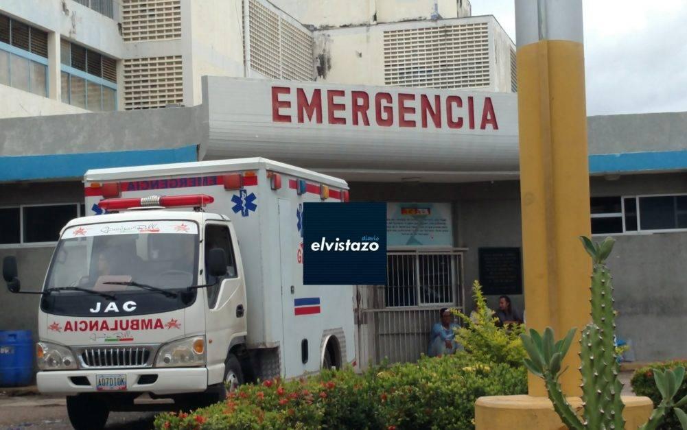 Ingresó al hospital de El Tigre con un proyectil alojado en el epigastrio