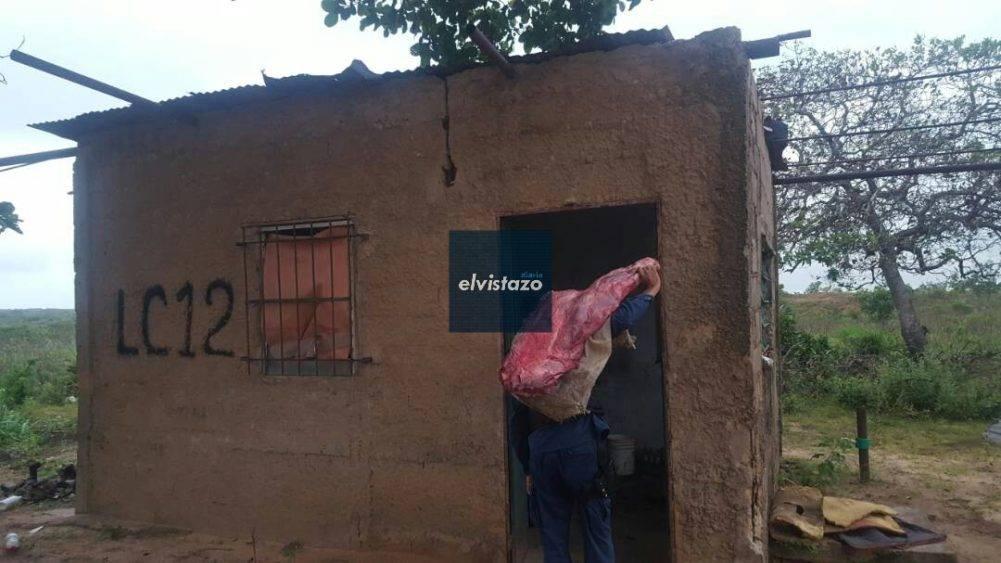 Detenidos dos cuatreros por robar 200 kilos de carne en caserío La Colmena