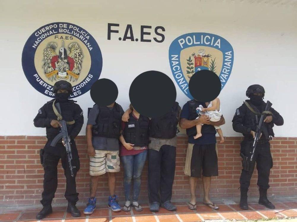 FAES rescata a cinco personas secuestradas que viajaban de Mérida a El Tigre