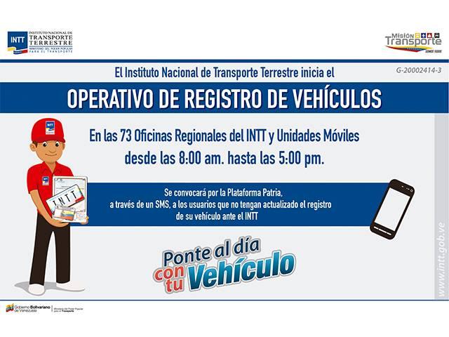Extienden hasta febrero 2019 operativo para registro de vehículos