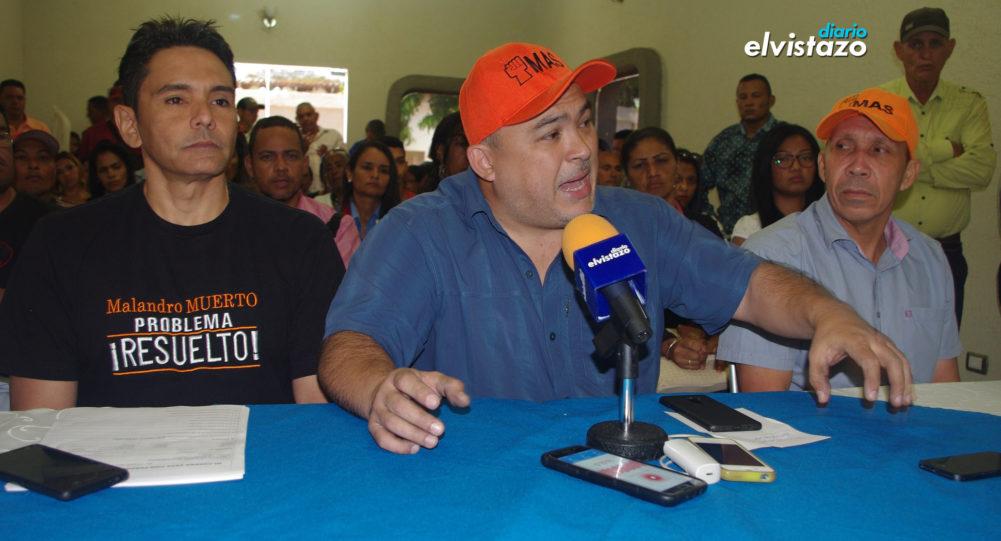(AUDIO) Partido MAS incorpora a Ernesto Paraqueima y José Félix Cones en Anzoátegui