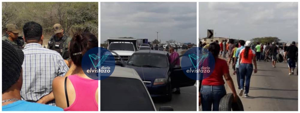 Protesta por fallas de servicios cerró carretera que conecta Oriente con Caracas