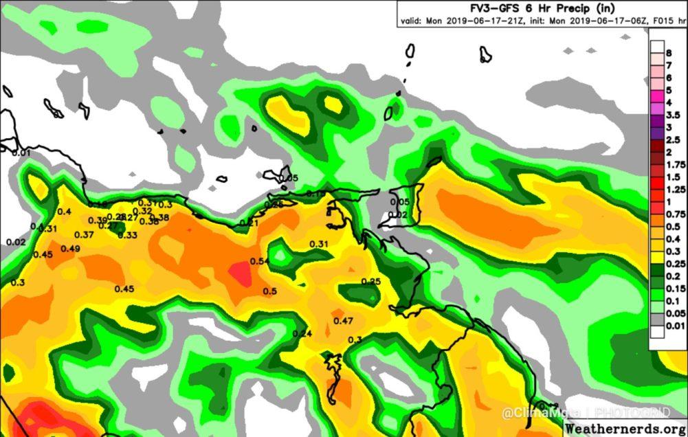 Lluvias de variable intensidad y ráfagas de viento trae la Onda Tropical N7