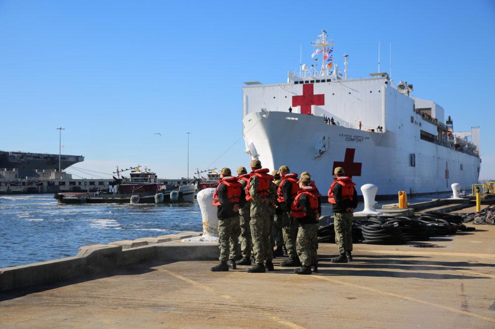 Buque hospital estadounidense instalado en Colombia atenderá mil venezolanos por día