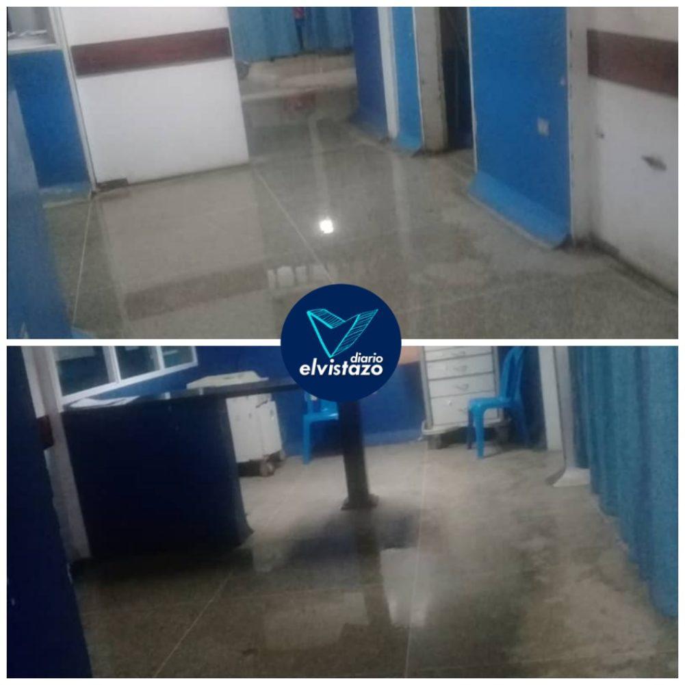 ¡Como un colador! Lluvia del domingo destapó goteras en la Emergencia del hospital de El Tigre