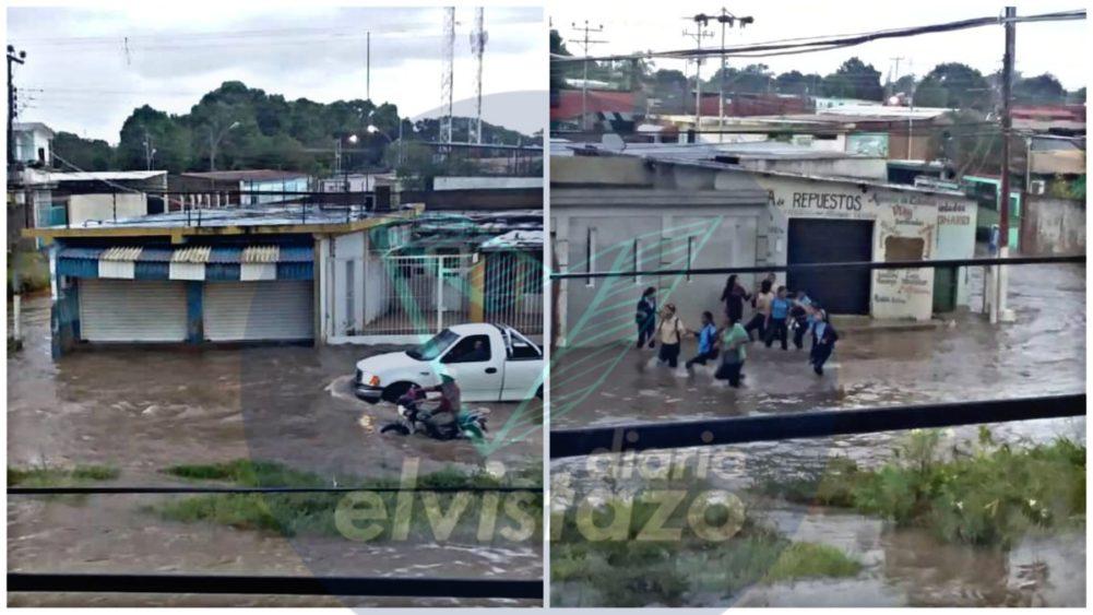 VIDEO: Agua del chaparrón llegó a las rodillas de peatones en avenida Winston Churchill norte