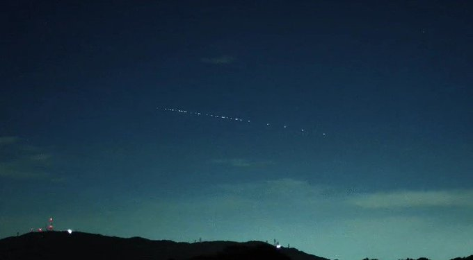 VIDEO: En Venezuela se vieron los 60 satélites de SpaceX para ampliar la banda ancha mundial