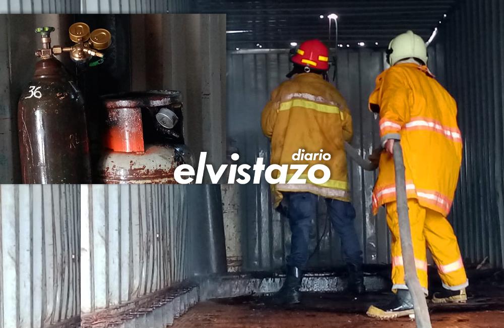 Conato de incendio en equipo de oxicorte fue controlado por Bomberos Anzoátegui en la calle 20 sur