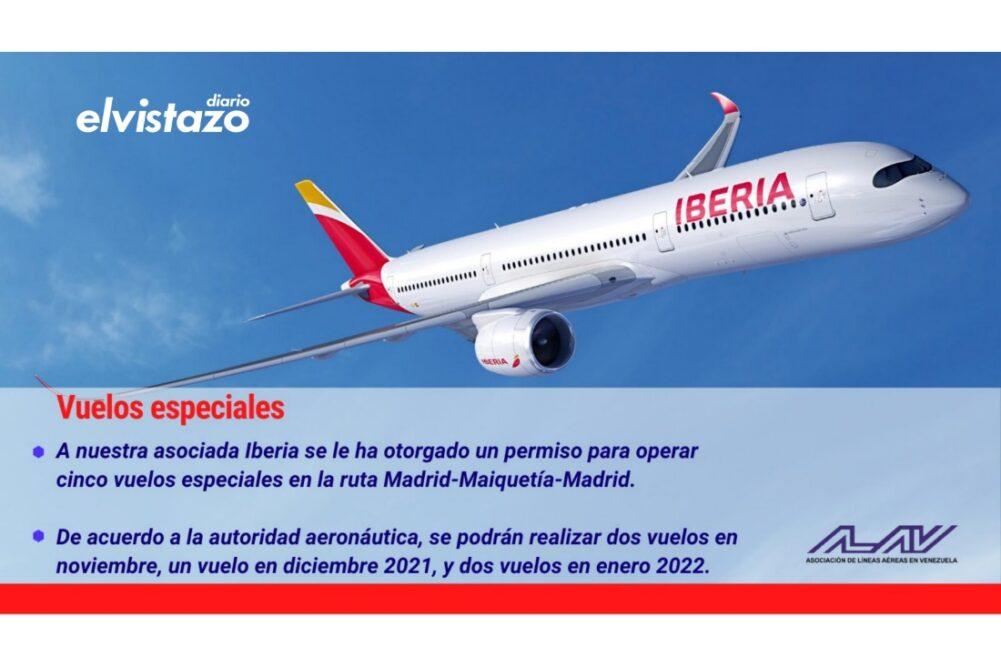 Asociación de Líneas Aéreas informa que fueron autorizados vuelos especiales Caracas – Madrid con Iberia y AirEuropa