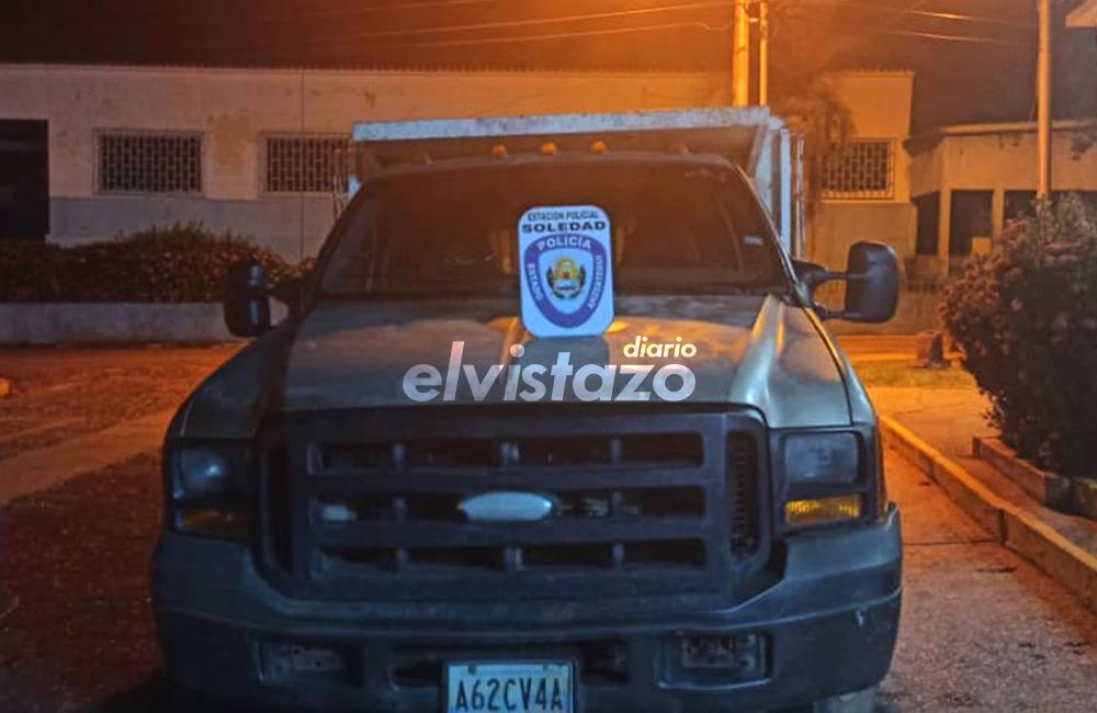 Polianzoátegui recuperó camión F-350 solicitado en Bolívar desde 2019